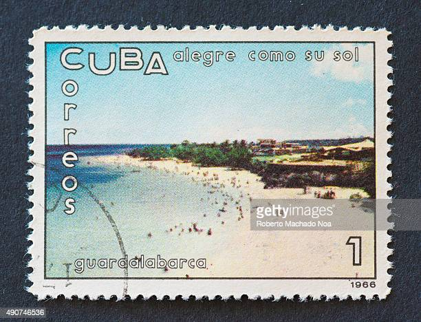 Cuban 1966 stamp on 'alegre como su sol' series depicting the Guardalabarca beach Guardalabarca or Guardalavaca is a town in the Holguin Province of...