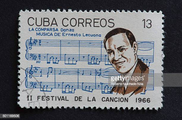 Cuban 1966 stamp on La Comparsa by Ernesto Lecuona Stamp commemorating second Festival de la Cancion of 1966 Ernesto Lecuona was a Cuban composer and...