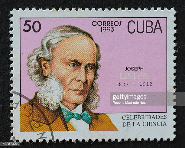 Cuban 1993 stamp from the series 'Celebrities of Science' commemorating the life of Joseph Lister Joseph Lister was a British surgeon and a pioneer...