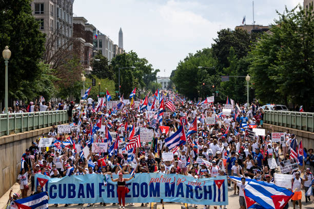 DC: March And Rally In Support Of The Cuban People Held In Washington, D.C.