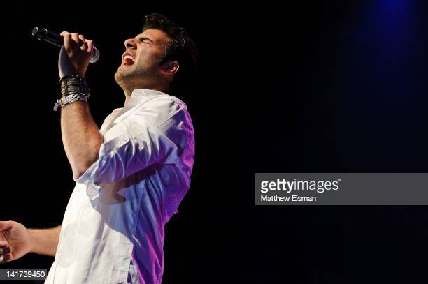 Cuban actor/singer Jencarlos Canela performs at the Gramercy Theatre on March 22, 2012 in New York City.