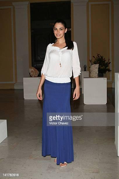 Cuban actress and model Livia Brito Pestana attends the Yucatan Moda Nextel 2012 cocktail and dinner at Teatro Jose Peon Contreras on March 17 2012...