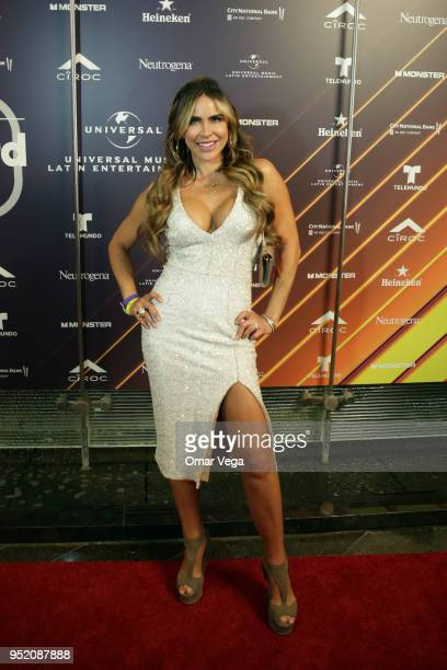 Cuban actress Aylin Mujica poses during the 20th Billboard Latin Music Awards After Party red carpet at Jewel Nightclub on April 26 2018 in Las Vegas...