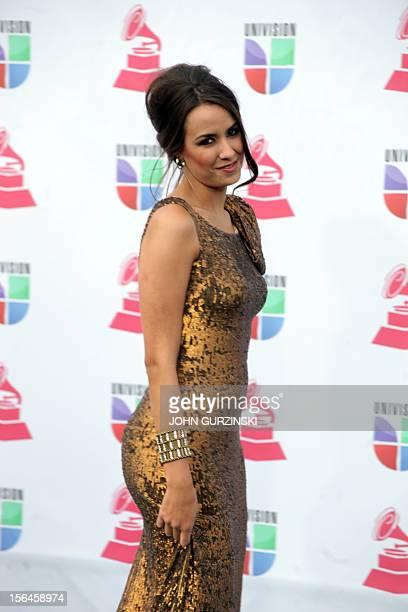 Cuban actress Odalys Garcia arrives for the 13th Annual Latin Grammy Awards on November 15 2012 in Las Vegas Nevada AFP PHOTO/John GURZINSKI
