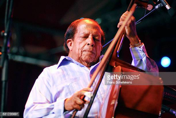 Cuban Bass player Cachao performs at the North Sea Jazz Festival in Ahoy on July 16th 2006 in Rotterdam, Netherlands.