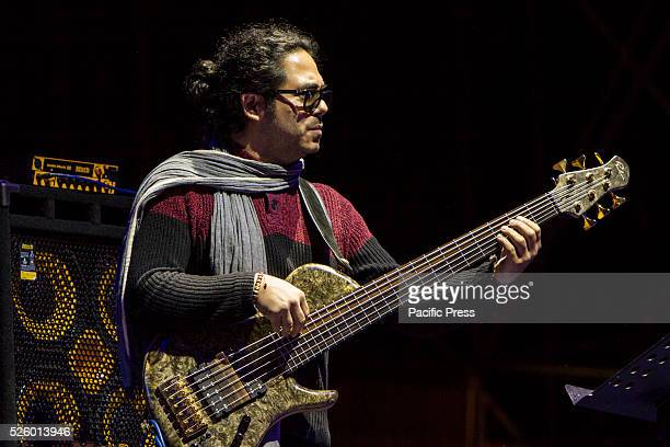 Cuban bassist Armando Gola in concert at Torino Jazz Festival