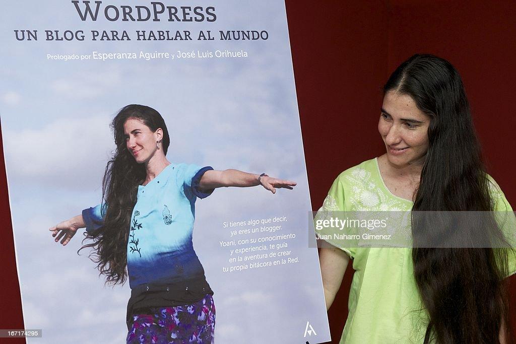 Yoani Sanchez Presents 'Wordpress. un Blog Para Hablar al Mundo' in Madrid
