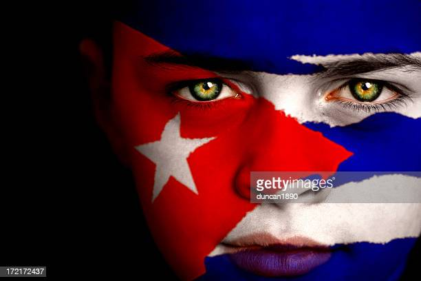 cuban boy - cuban flag stock pictures, royalty-free photos & images