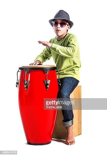 cuban boy playing conga