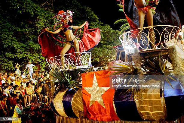 Cuban carnival dancers perform during the annual Santiago de Cuba carnival July 23 2008 in Santiago de Cuba Cuba The Santiago de Cuba annual carnival...