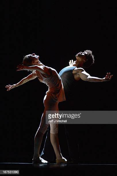 Cuban dancer Carlos Acosta and Zenaida Yanowsky rehearse for his only UK dates of 'On Before' at the Festival Theatre on April 26 2013 in Edinburgh...