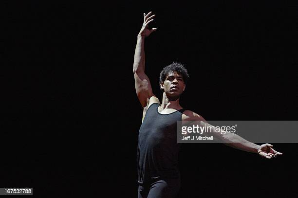 Cuban dancer Carlos Acosta rehearses for his only UK dates of 'On Before' at the Festival Theatre on April 26 2013 in Edinburgh Scotland The show...