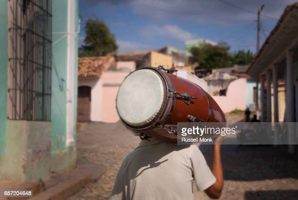 A Cuban drummer