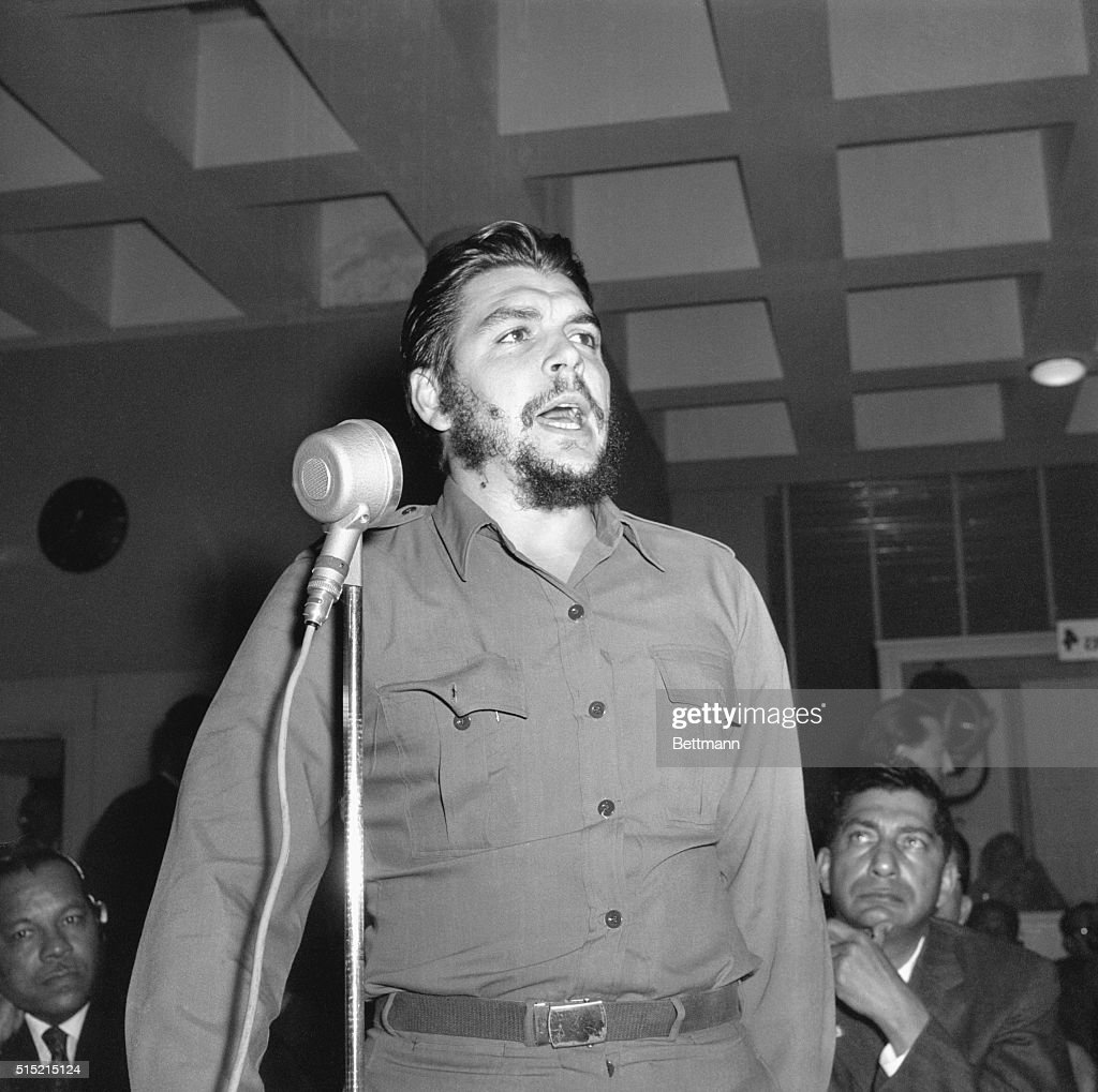 Cuban Economic Minister Che Guevara addresses the Inter-American Economic and Social Council of the Organization of American States in which he accuses the United States of plotting to assassinate Fidel Castro's brother and to provoke armed aggression. | Location: Punta De Este, Uruguay.
