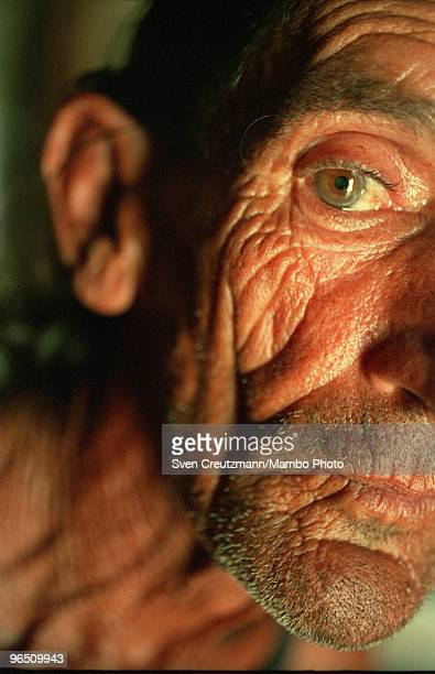 Cuban fisherman Hisidro poses for a photo in the little fishermen village Cojimar on June 13 in Havana Cuba The American writer and journalist Ernest...