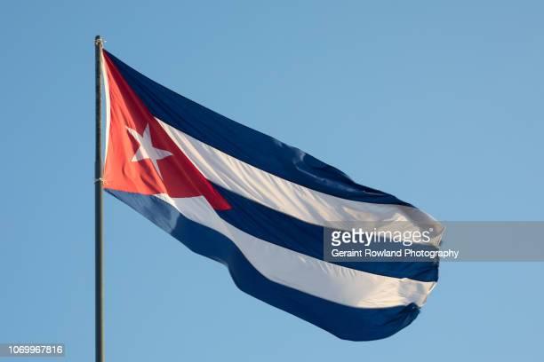 Cuban Flag Flying