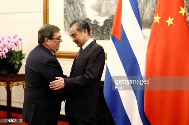 Cuban Foreign Minister Bruno Rodriguez and Chinese Foreign Minister Wang Yi meet at Diaoyutai state guesthouse in Beijing, China May 29, 2019.