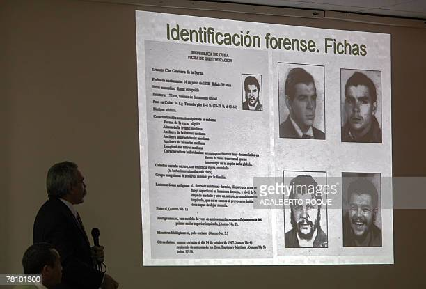 Cuban forensic scientist Jorge Gonzalez who led the team that between 1995 and 1997 searched for found and recovered the mortar remains of...