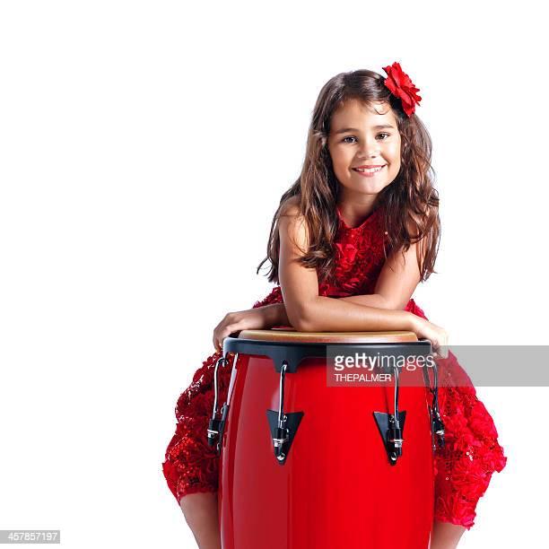 cuban girl with conga