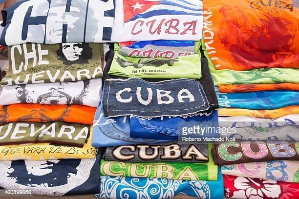 Cuban handcrafted souvenir stand one of the most lucrative small private business allowed after the economic changes or reforms carried out by the...