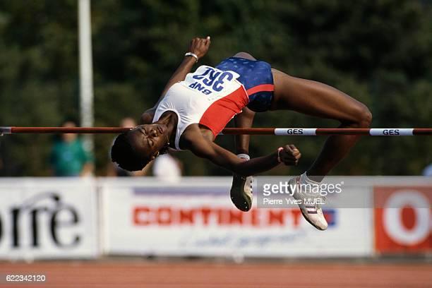 Cuban high jumper Silvia Costa during the 1989 SaintDenis Meeting | Location SaintDenis France