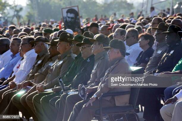 Cuban military personnel attends a political act at the Plaza de la Revolucion to celebrate the 50th anniversary of the death of Ernesto Che Guevara...