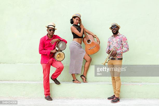 cuban musical band outdoors - cuban culture stock pictures, royalty-free photos & images