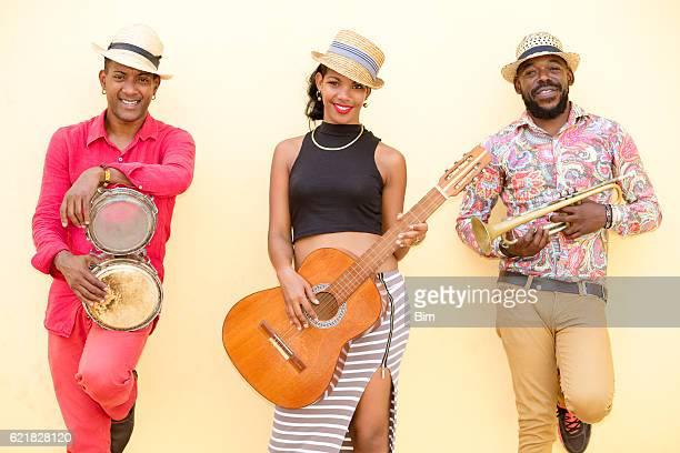 Cuban Musical Band Outdoors