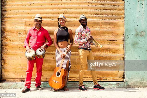 cuban musical trio - old havana stock pictures, royalty-free photos & images