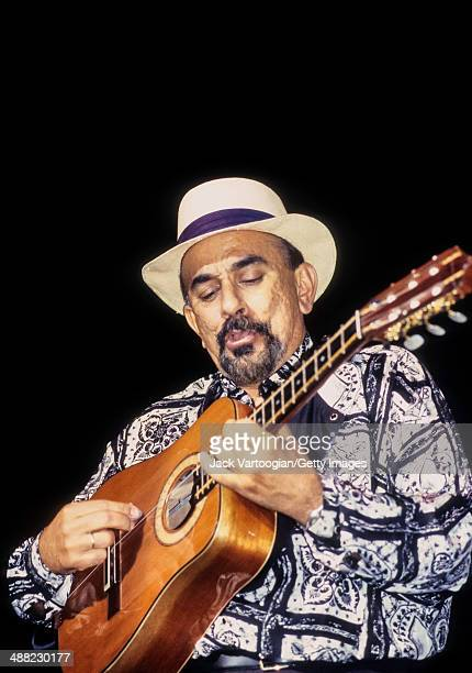 Cuban musician Pancho Amat plays tres with the band Cubanismo during the JVC Jazz Festival's 'Habana, New York' concert at Hammerstein Ballroom, New...