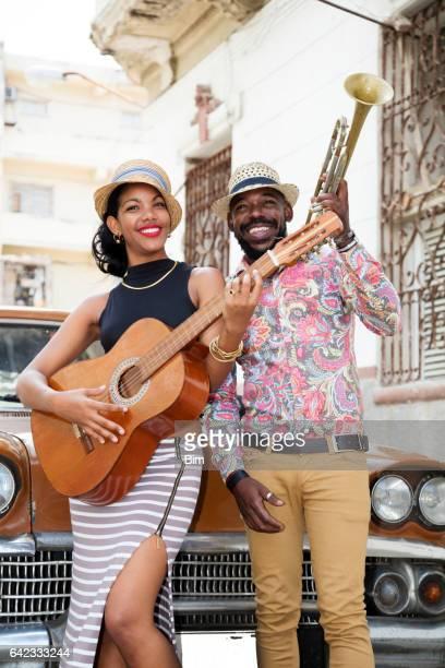 Cuban musiciens en plein air, La Havane, Cuba