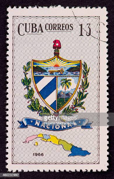 Cuban National Coat of Arms seen in a stamp from Cuba Correos or Post dating back to 1966 This political administrative divisions correspond to the...