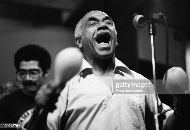 Cuban orchestra leader Machito performs on stage at BIM Huis on July 27 1982 in Amsterdam, Netherlands.
