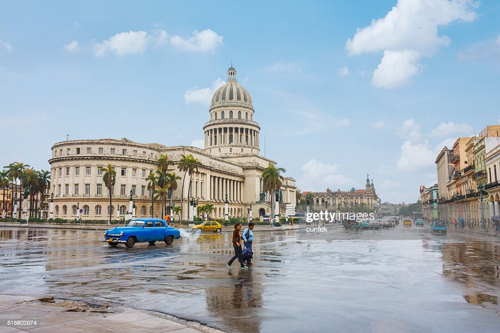 Cuban parliament : Stock Photo