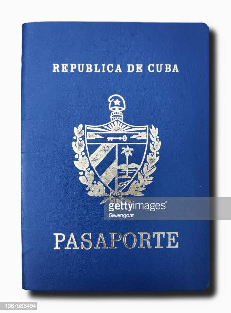 Cuban passport isolated on a white background