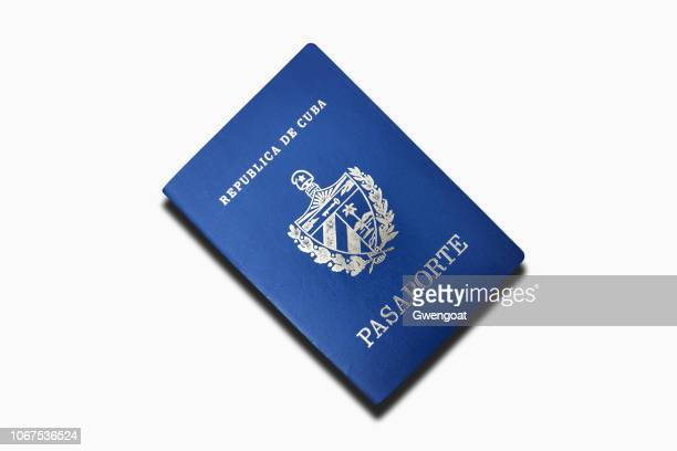 cuban passport isolated on a white background - gwengoat stock pictures, royalty-free photos & images