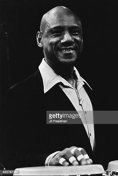 Cuban percussionist Candido Camero during rehearsals for 'Dizzy Gillespie Dream Band Jazz America' Carnegie Hall New York City 1981