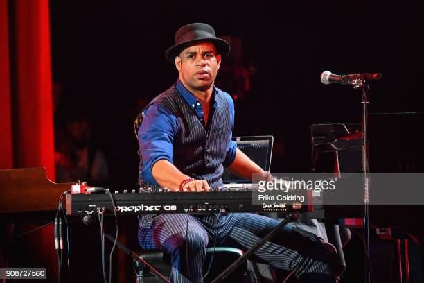Cuban pianist Roberto Fonseca performs at the National Theatre of Cuba during the 33rd International Jazz Plaza Festival on January 21 2018 in Havana...