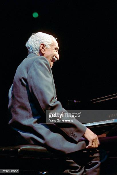 Cuban piano player Ruben Gonzalez poses on June 14th 1999 at Vredenburg in Utrecht, Netherlands.