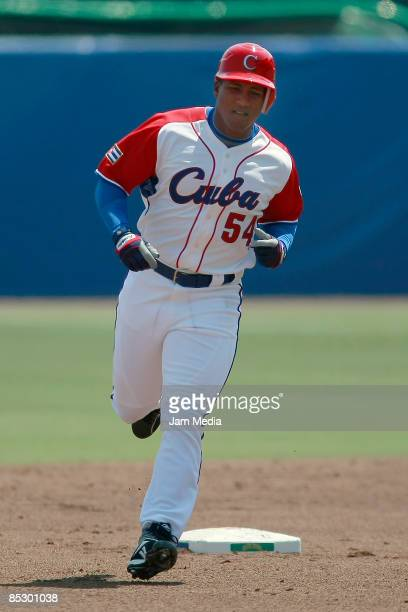 Cuban players Alfredo Despaigne during the World Baseball Classic 2009 on March 08, 2009 in Mexico City, Mexico.