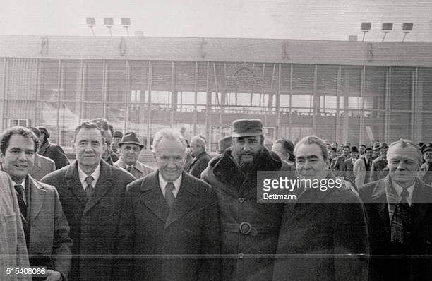 Cuban Premier Fidel Castro is seen off at Vnukovo Airport April 8 on his departure from Moscow