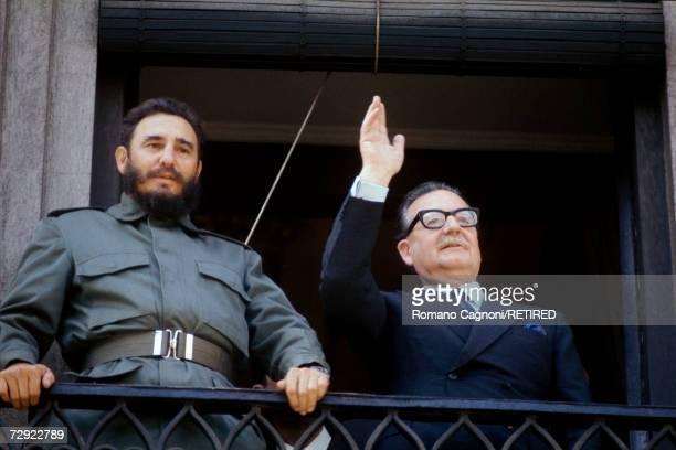 Cuban premier Fidel Castro with Chilean president Salvador Allende circa 1972