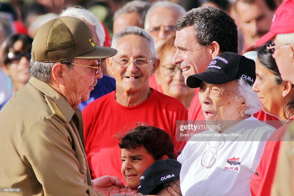 Raul Castro Commemorates Anniversary Of Moncada Barracks Attack : News Photo