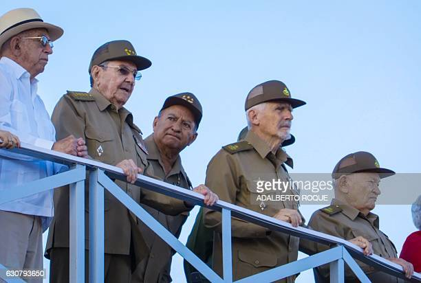 Cuban President Raul Castro , Cuban Vice President Jose Ramon Machado Ventura , Minister of the Revolutionary Armed Forces ,General Leopoldo Cintra...