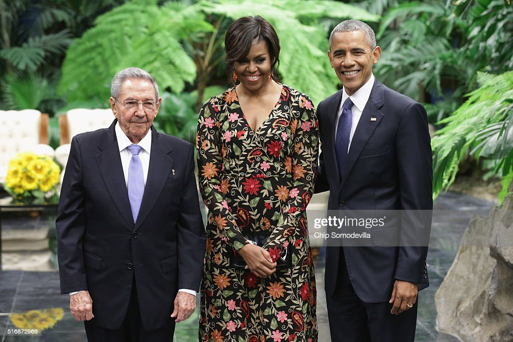 Cuban Leader Raul Castro Hosts State Dinner For President Obama : News Photo