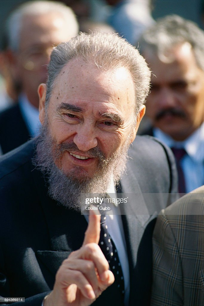Cuban Prime Minister Fidel Castro in Cape Town, South Africa.