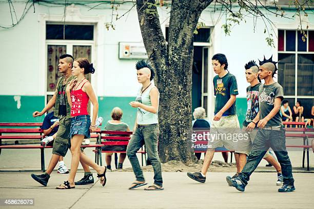 cuban punks - santa clara cuba stock pictures, royalty-free photos & images