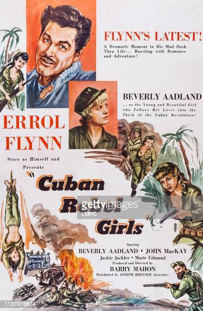 Errol Flynn Beverly Aadland on poster art 1959