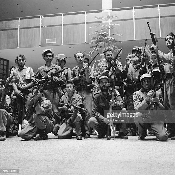 1/59 Cuban rebel soldiers posing with guns Havana Cuba