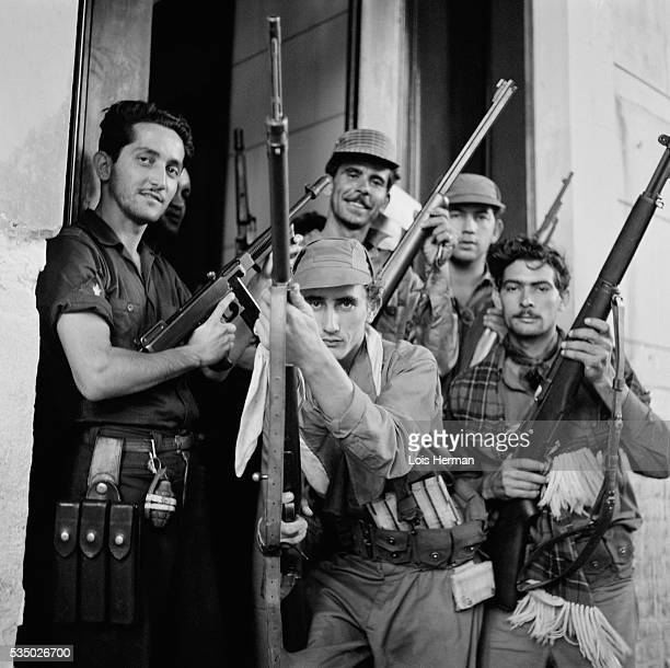 1/59 Cuban rebel soldiers posing with guns University of Havana Cuba